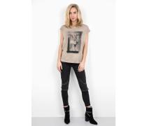 Print Shirt Biker Pegasus WSN beige