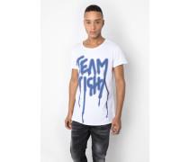 Print T-Shirt Team MSN weiß