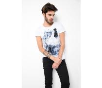 T-Shirt Howling Wolf MSN weiß