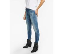 Skinny Jeans Ania 9012 ripped blau