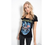 Print T-Shirt Iron Maiden Seventh Son Circle WSN