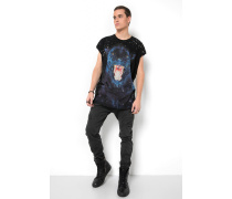 Print T-Shirt Panther MSN schwarz