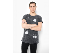 Print T-Shirt Painted Stars MSN grau