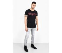 Print T-Shirt Scribble Logo MSN schwarz