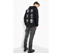 Sweatjacke Mauro Patch schwarz