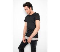 T-Shirt Alois schwarz/ taupe