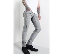 Jeans Jona zip grau
