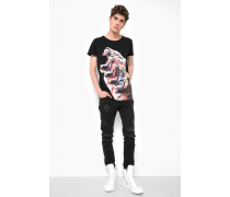 Print Shirt Triple Tiger MSN schwarz