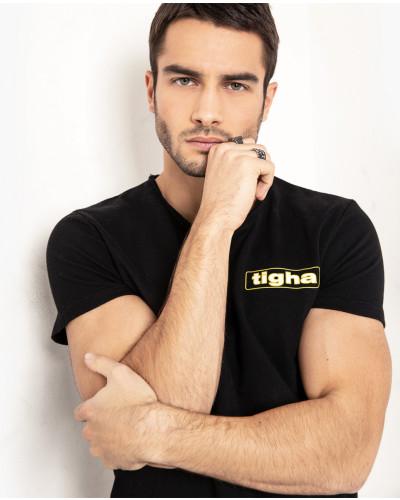 Herren Print T-Shirt Meo schwarz (black)