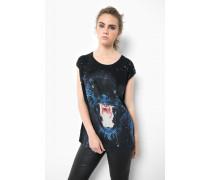 Print Shirt Panther WSN schwarz