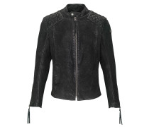 Lederjacke Nero buffed