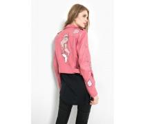 Lederjacke Rosa pink