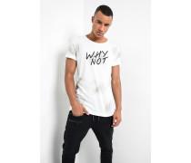 Print Shirt Why Not MSN weiß