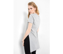 T-Shirt Klara slub grau