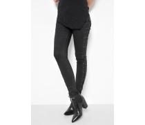 Jeans Ania lacing schwarz