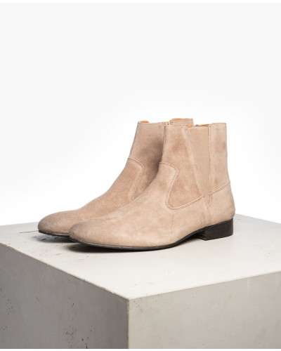 Herren Chelsea Boots Buck beige (cow suede ash)