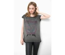 Print Shirt Mermaid soul WSN grau