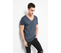 T-Shirt Cain slub blau