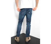 Slim Fit Billy the biker blau