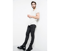 Jeans Clyde Coated schwarz