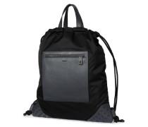 Rucksack aus Textil und Leder