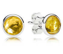 Damenohrstecker Tröpfchen Gelb Silber Citrin onesize 290738CI
