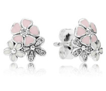 Damen Ohrstecker Malerische Blüten Pink Silber Cubic Zirconia onesize 290686ENMX