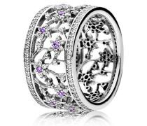 Ring  Vergissmeinnicht  Silber Lila 190991ACZ-48