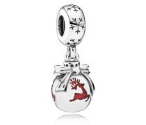Rentier-Weihnachtsornament Charm-Anhänger Grau 791768EN07