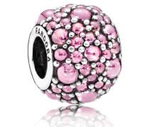 Charm  Glitzernde Tröpfchen   Silber Pink Cubic Zirconia 791755PCZ