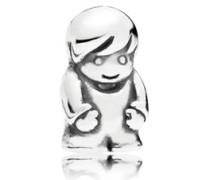 Damen Medaillon-Elemet für Medaillon-Halskette Kleiner Junge Silber onesize 796311