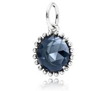 Glänzender Mitternachts Kristall Kettenanhänger Silber Blau Kristall 390361NBC