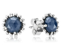 Ohrstecker  Glänzende Mitternachts Kristall  Silber Blau Kristall 290561NBC