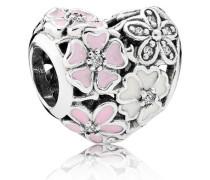 Charm  Malerische Blüten  Silber Pink Cubic Zirconia 791825ENMX