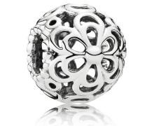 Damen Charm Durchbrochene Apfelblüte Silber onesize 790965