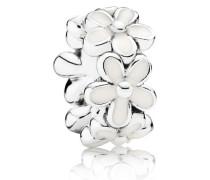 Charm  Liebliche Gänseblümchen Zwischenelement Silber Weiß 791495EN12