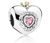 Charm   Prinzessen Herz  Bicolor Pink Cubic Zirconia 791375PCZ