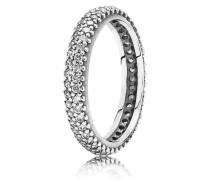 Kombinierbarer Ring  Glitzernder Schwung  Silber 190909CZ-48