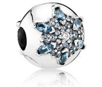 Eisblaue Schneeflocke Charm Blau Verschiedene Steine 791997NMB