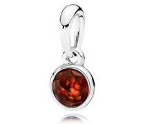 Damenkettenanhänger Tröpfchen Rot Silber Granat onesize 390396GR