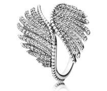 Damen Ring Schimmernde Phoenixfeder Silber 48 190960CZ-48