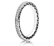 Kombinierbarer Ring  Unendliche Herzen  Silber 190963CZ-48