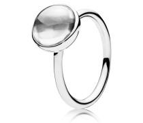 Kombinierbarer Ring  Malerisches Tröpfchen  Silber 190982CZ-48
