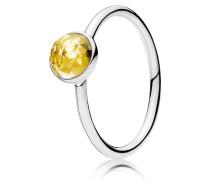 Kombinierbarer Ring  November Tröpfchen  Silber Gelb 191012CI-48