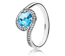 Ring Himmelblaue Schönheit Silber Blau 190968NBS-48