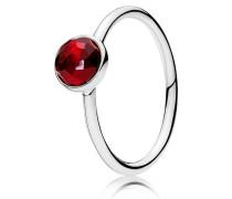 Kombinierbarer Ring  Juli Tröpfchen  Silber Rot 191012SRU-48