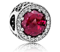 Charm  Kirsch Strahlenkranz der Herzen  Silber Pink Cubic Zirconia, Kristall 791725NCC