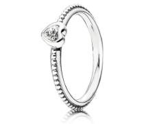 Kombinierbarer Ring Filigraner Herz-Ring Silber 190896CZ-48