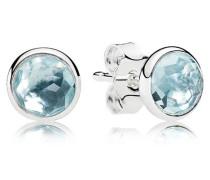 Damenohrstecker Tröpfchen Blau Silber Kristall onesize 290738NAB