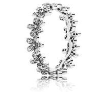 Kombinierbarer Ring  Glanzvolles Gänseblümchen-Band  Silber 190934CZ-48